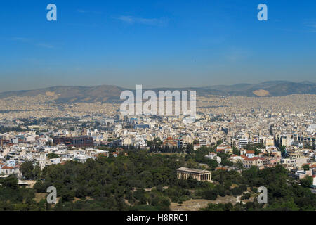 Athens skyline, Greece - Stock Photo