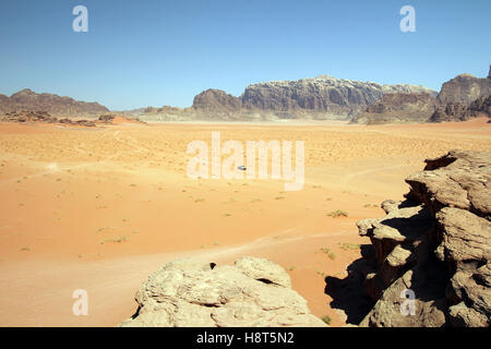 Valley of Wadi Rum, desert in Jordan - Stock Photo