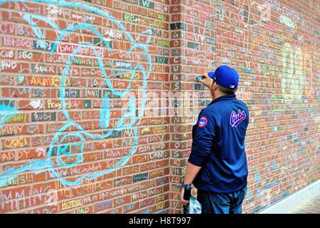 ... During The Playoffs And, Especially The World Series, Wrigley Field  Walls Became A Place Part 82