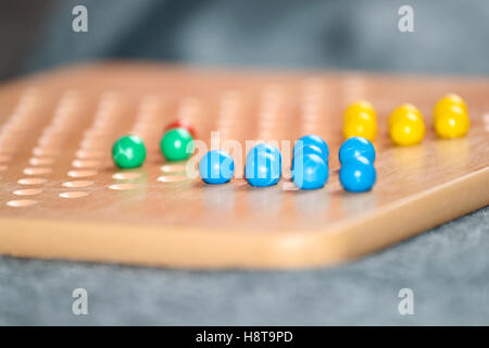 Close up of Chinese checkers board - Stock Photo