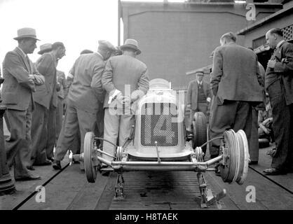 1930s MASERATI 8CM ON WEIGHBRIDGE - Stock Photo