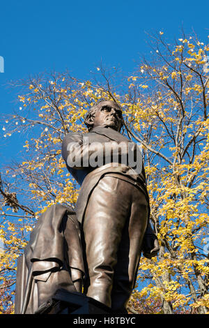 Statue of Daniel Webster, Central Park, NYC - Stock Photo