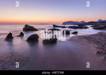 Falasarna beach, Crete island, Greece - Stock Photo
