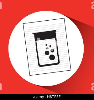 research chemical laboratory container icon vector illustration eps 10 - Stock Photo