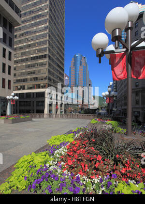 Canada, Quebec, Montreal, Place Ville Marie, McGill College Avenue, - Stock Photo