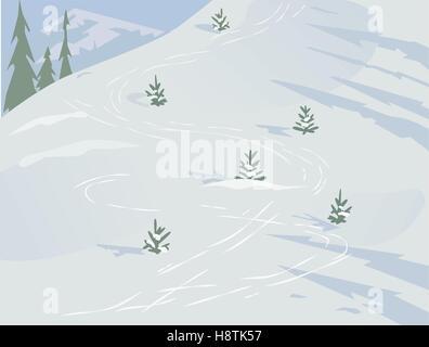 Winter landscape concept - Stock Photo