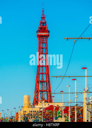 Blackpool Tower, Blackpool, Lancashire, UK. - Stock Photo
