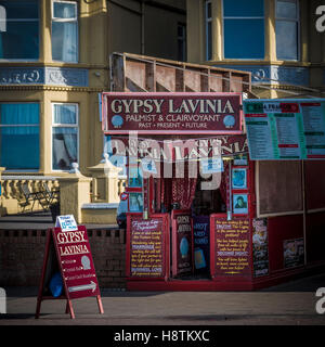 Clairvoyant, Blackpool seafront, Lancashire, UK. - Stock Photo