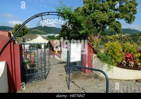 Entrance gate of the rose garden in Saverne , Alsace , France - Stock Photo