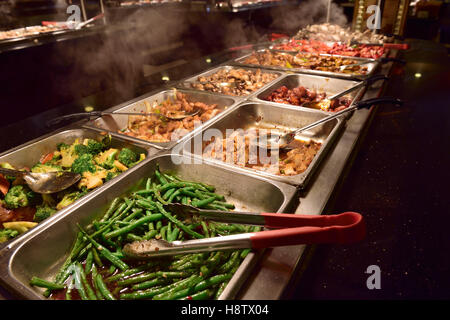 "Buffet selection in ""all you can eat"" restaurant - Stock Photo"