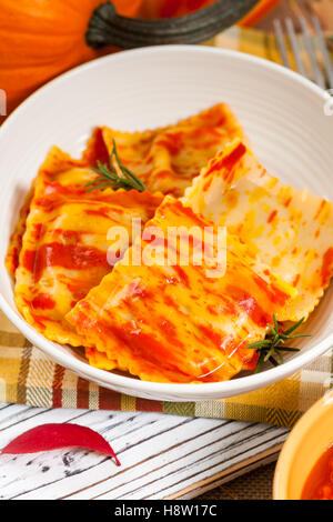 Pumpkin Ravioli - Stock Photo