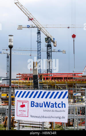 Bauwatch, a security company, specialized on construction sites, video surveillance, protection against theft and - Stock Photo