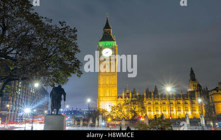 The Big Ben is  British cultural icon ,the tower is one of the most prominent symbols of the United Kingdom. - Stock Photo
