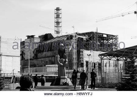 Reactor No. 4 of the Chernobyl power plant - Ukraine - Stock Photo