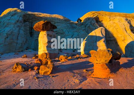 Toadstool Hoodoos, Grand Staircase-Escalante National Monument, Utah, Usa, America - Stock Photo