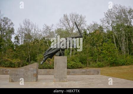 Monument to the Spanish Civil War in Volkspark Friedrichshain, berlin - Stock Photo