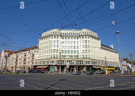 Fancy  Soho hotel in New Objectivity style in Berlin, built by Georg Bauer and Siegfried Friedlander early in the - Stock Photo