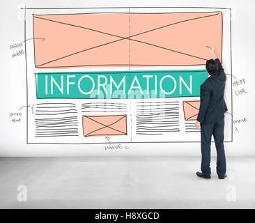 Information Content Data Statistics Details Info Concept - Stock Photo