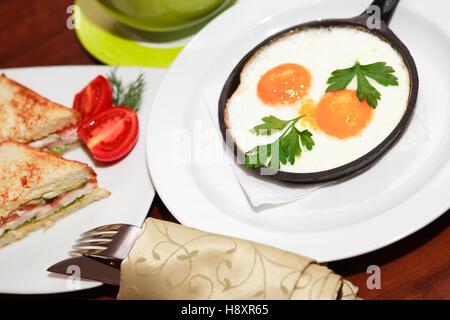 royalty free stock photography romantic breakfast table orange juice coffee eggs image
