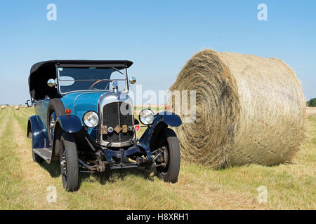 Oldtimer Citroen B10, Torpedo Commerciale, made in 1925. 4-cylinder inline engine, engine capacity 1470 cc, 20 PS - Stock Photo