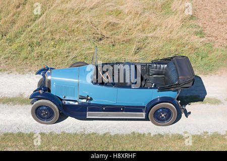 Oldtimer Citroen B10 with top down, Torpedo Commerciale, made in 1925. 4-cylinder inline engine, engine capacity - Stock Photo
