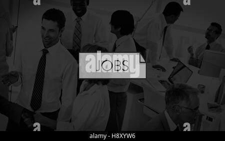 Jobs Job Career Occupation Employment Hiring Concept - Stock Photo