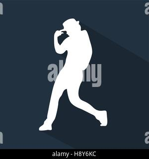 Flat Dancing Silhouette - Stock Photo