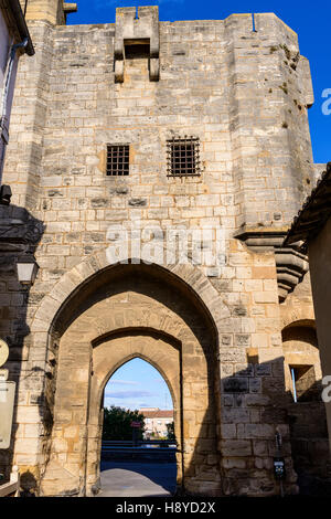Les Remparts Aigues-Mortes,Camargue - FRANCE 30 - Stock Photo
