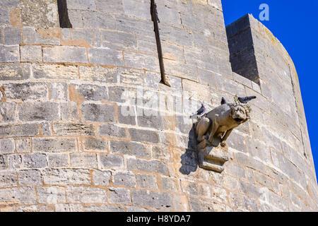 Gargouille Les Remparts côté Sud Aigues-Mortes,Camargue AIGUES-MORTES - FRANCE - Stock Photo
