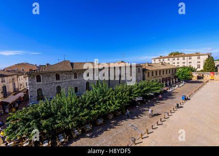 Vue des Remparts sur  Aigues-Mortes,Camargue - FRANCE 30 - Stock Photo