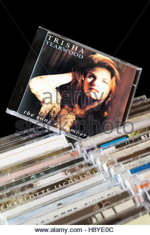 The Song Remembers When, Trisha Yearwood CD pulled out from among rows of other CD's - Stock Photo
