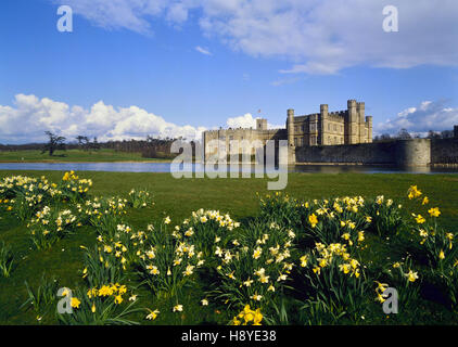 Leeds Castle in Spring. Kent. England. UK - Stock Photo