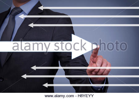 Old Way or New Way on Visual Screen - Stock Photo