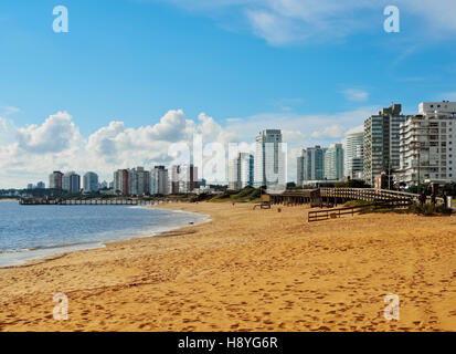 Uruguay, Maldonado Department, Punta del Este, View of the Mansa Beach. - Stock Photo