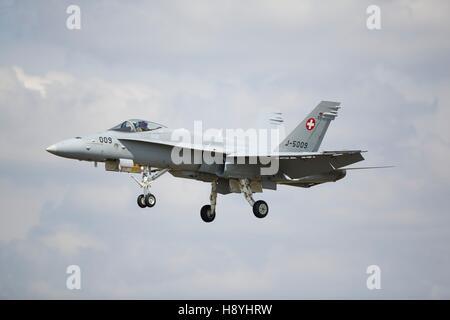 Swiss Air Force F/A-18 Hornet - Stock Photo