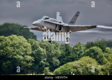 Swiss Air Force F/A-18 Hornet - Stock Photo