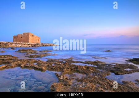 Paphos Castle, Paphos, Cyprus, Eastern Mediterranean Sea - Stock Photo