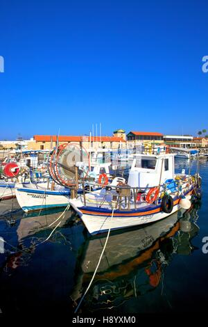 Paphos Harbour, Paphos, Cyprus, Eastern Mediterranean Sea - Stock Photo