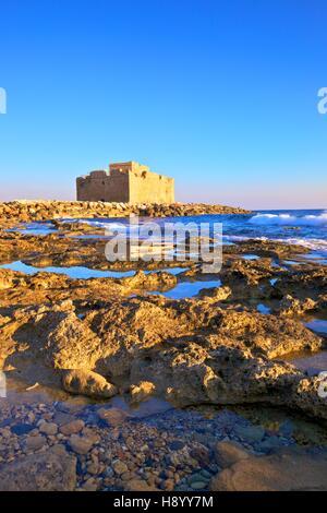 Paphos Castle, Paphos, Cyprus, Eastern Mediterranean Sea - Stock Photo