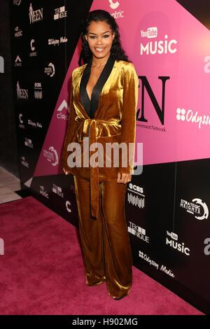 New York, NY, USA. 16th Nov, 2016. Teyana Taylor at the Sixth Annual WEEN Awards at ESPACE on November 16, 2016. - Stock Photo