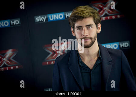 Alvaro Soler, judge of X Factor Italy, at the press conference for the new edition of X Factor in 2016. - Stock Photo