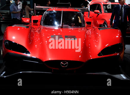 Los Angeles CA. 16th Nov, 2016. Mazda Unveils Stunning New RT24-P Daytona Prototype International car, during the - Stock Photo