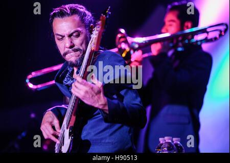 Las Vegas, NV, USA. 16th Nov, 2016. ***HOUSE COVERAGE*** Mon Laferte at Vinyl Las Vegas at Hard Rock Hotel & Casino - Stock Photo