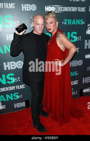 New York, NY, USA. 17th Nov, 2016. Timothy Greenfield Sanders and Bamby Salcedo at HBO Documentary Films New York - Stock Photo