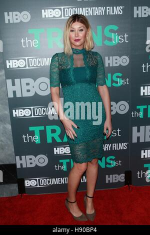New York, NY, USA. 17th Nov, 2016. Billie Lee at HBO Documentary Films New York Premiere of 'THE TRANS LIST' at - Stock Photo