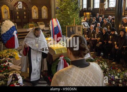 Copenhagen, Denmark. 10th Jan, 2017. A funeral service for Prince Dmitri Romanovich Romanov of the House of Romanov - Stock Photo