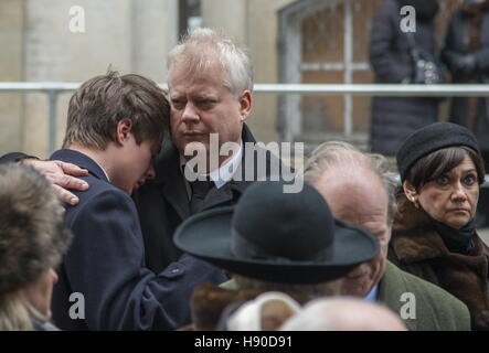 Copenhagen, Denmark. 10th Jan, 2017. Members of the House of Romanov after a funeral service for Prince Dimitri - Stock Photo