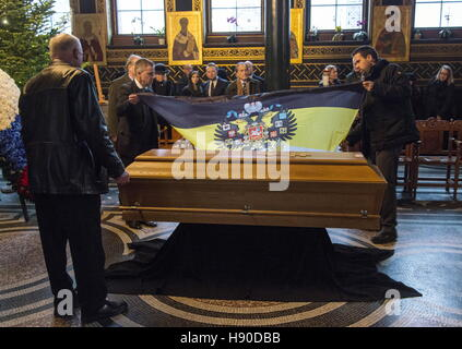 Copenhagen, Denmark. 10th Jan, 2017. Members of the House of Romanov during a funeral service for Prince Dimitri - Stock Photo