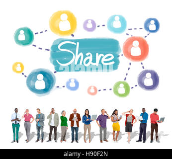 Share Sharing Connection Networking Concept - Stock Photo