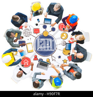 Technology Connection Media People Graphics Concept - Stock Photo